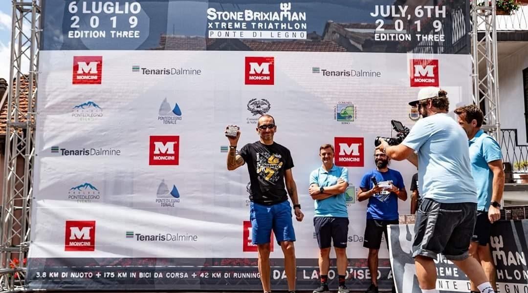 Marco Vanetti, quattro volte finisher allo Stone Brixia Man