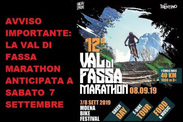 Avviso importante: la Val di Fassa Marathon anticipata a sabato per allerta meteo