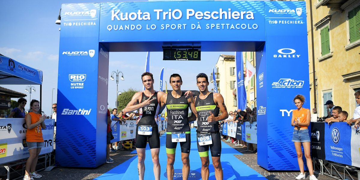Volkswagen TriO Series, a Peschiera del Garda  i campioni dell'olimpico sono Luca Facchinetti ed Elisa Marcon