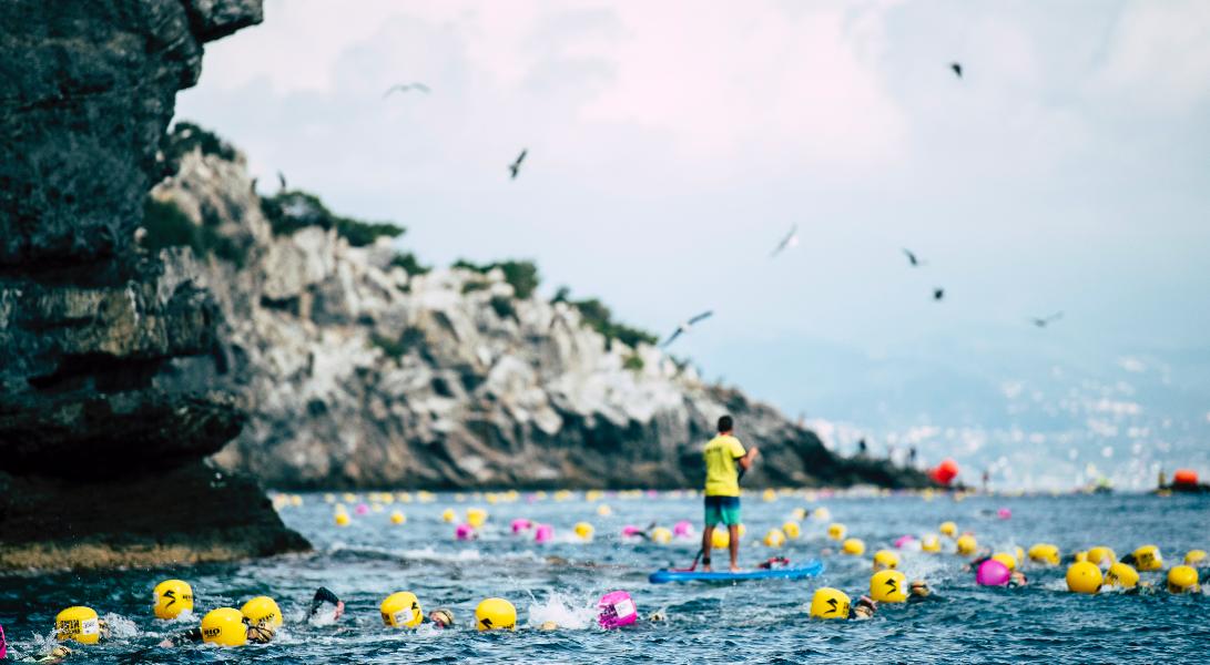 Il nuoto in acque libere e la tutela del mare  protagonisti di Swimtheisland Bergeggi.