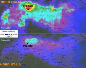 inquinamento sul nord Italia