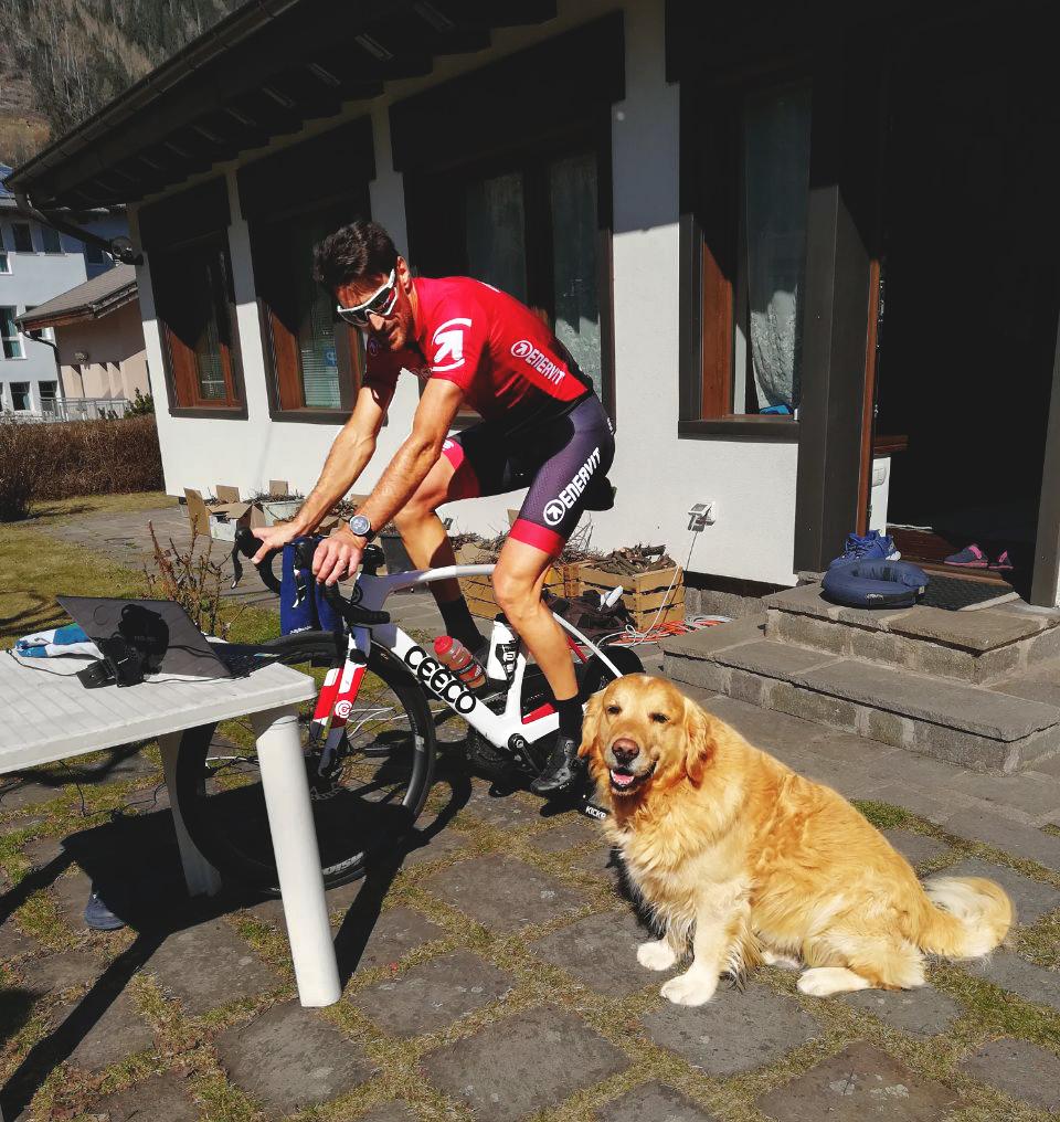 allenamento sui rulli da bici