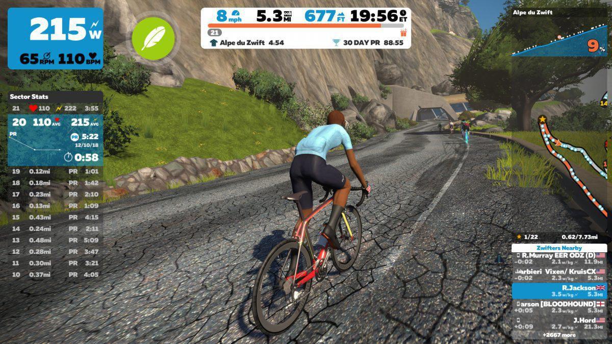 Applicazioni per rulli da bici - Zwift