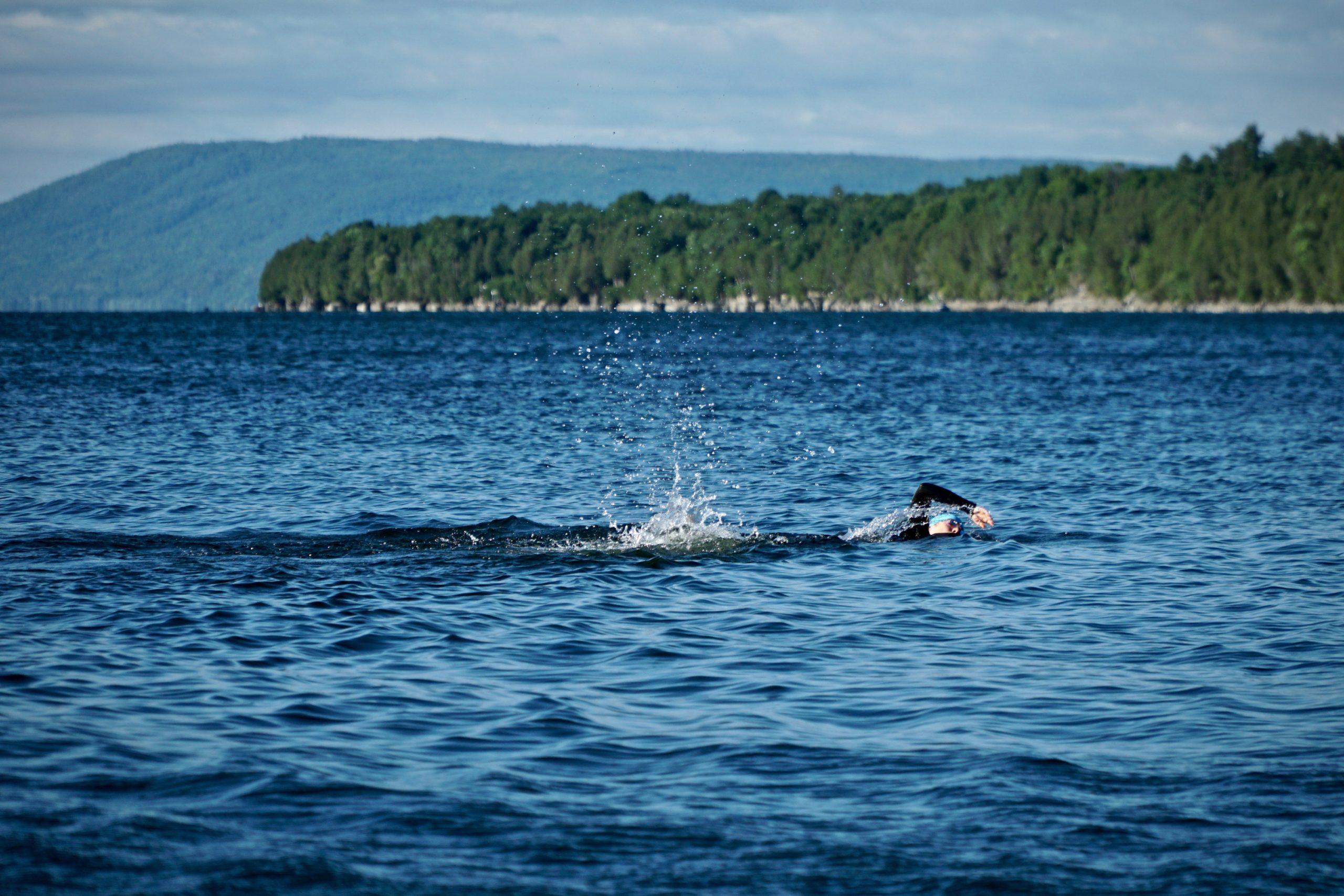 nuoto in acque libere, la rotta