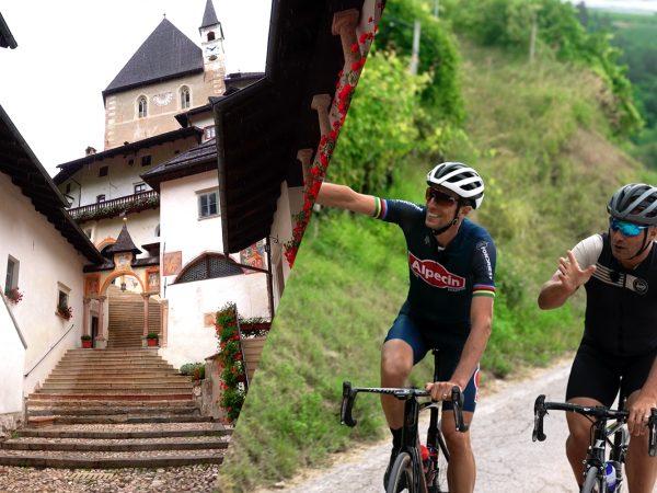 Una pedalata in Val di Non con Furlan e Fondriest