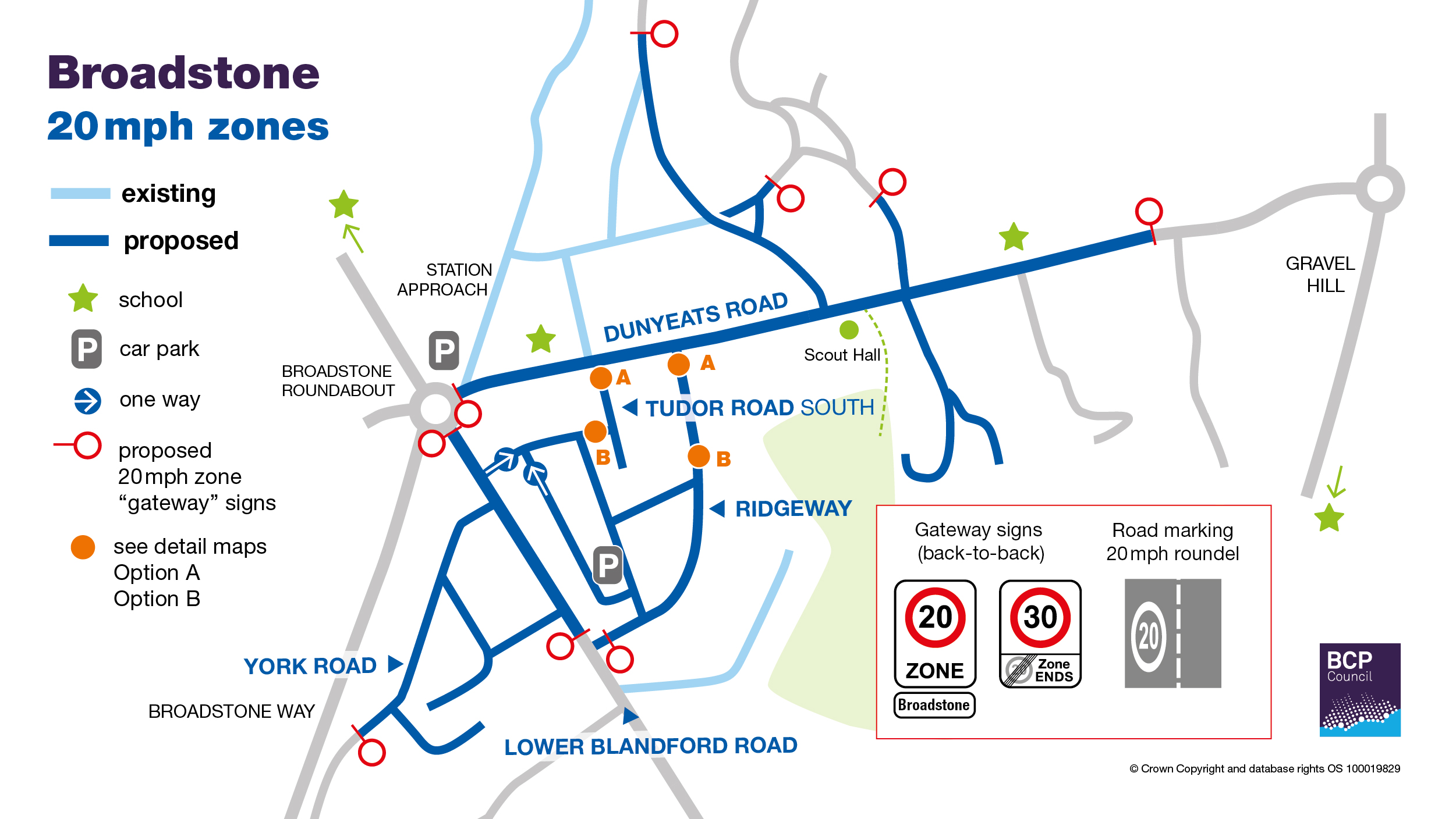 map of Broadstone proposals