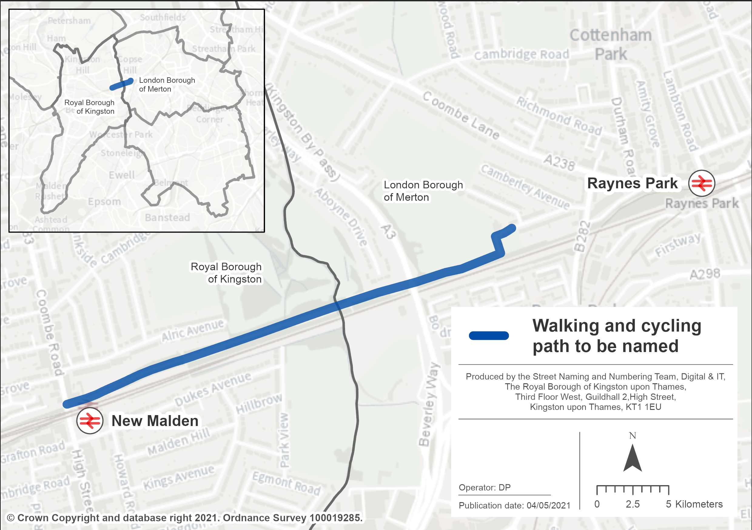 Help name the New Malden to Raynes Park walking and cycling route