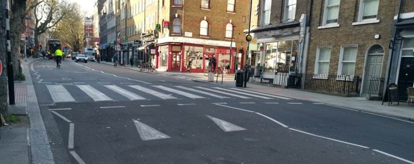 Image of a raised pedestrian crossing