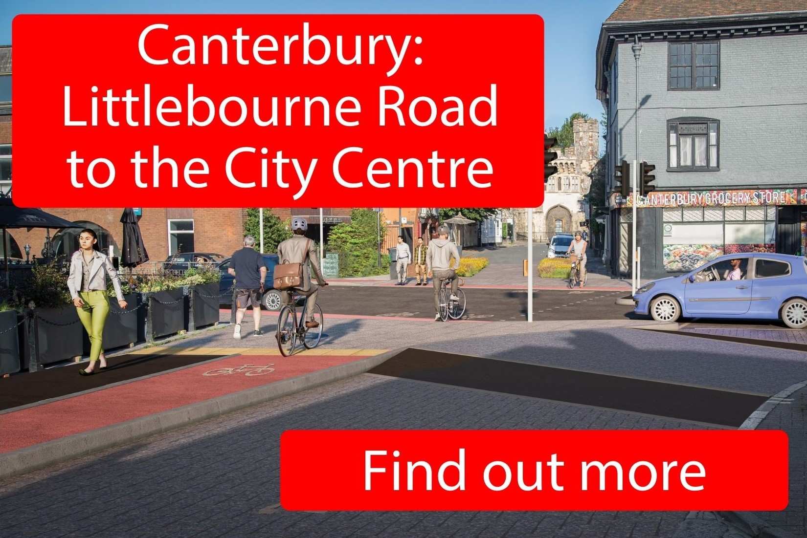 Canterbury: Littlebourne Road to the City Centre - click here to find out more.