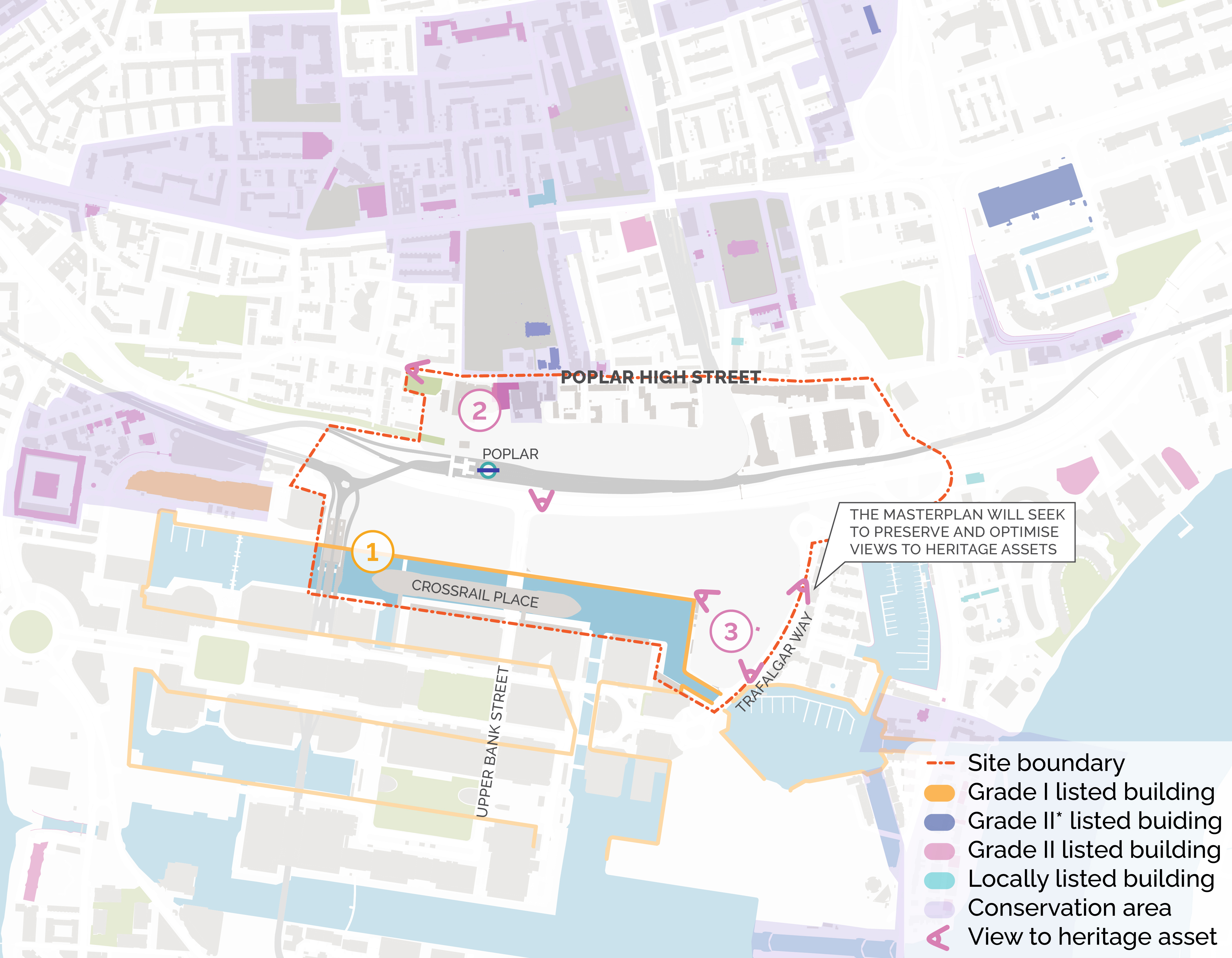 Existing heritage assets map