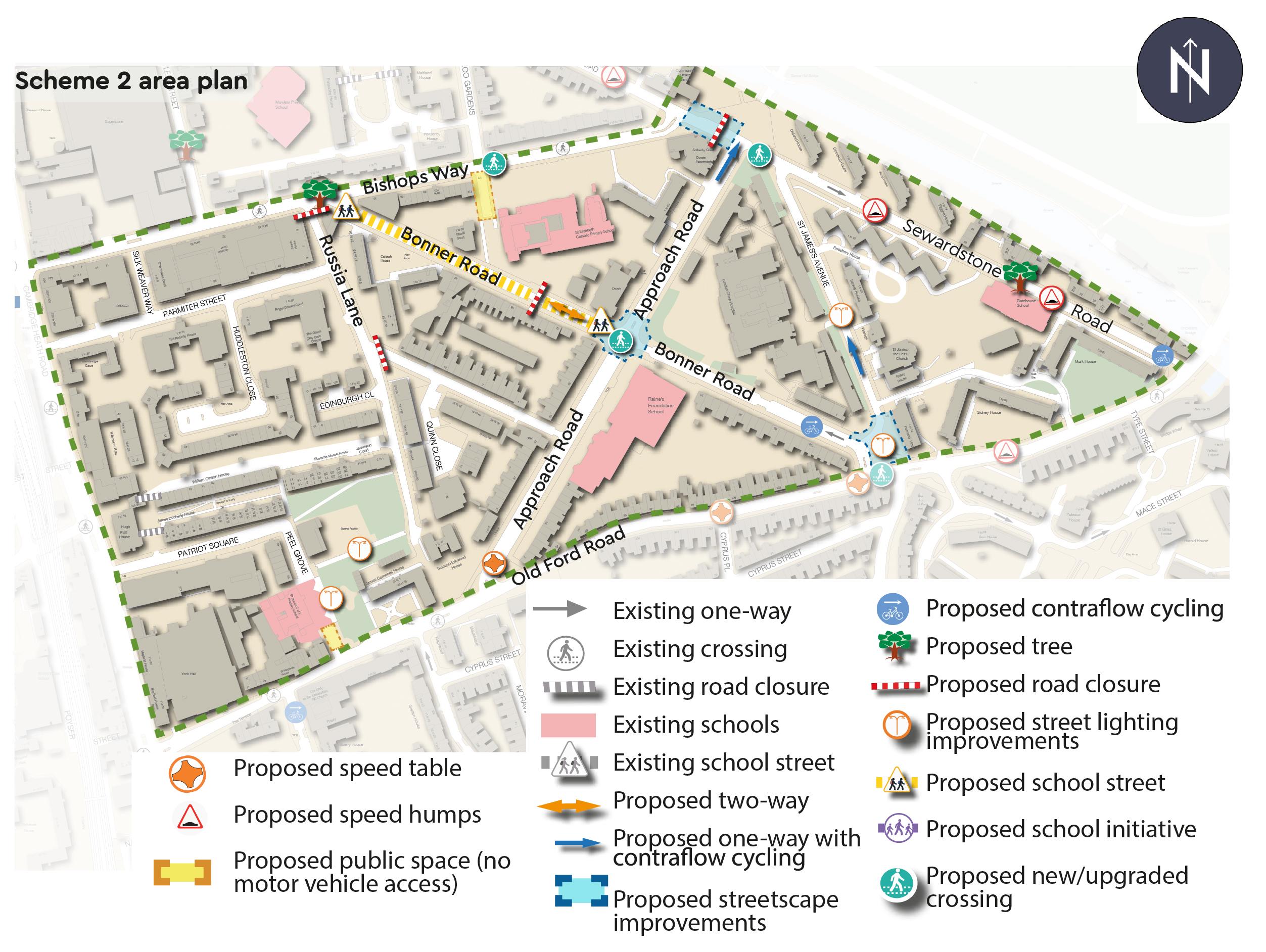 Scheme 2 area plan
