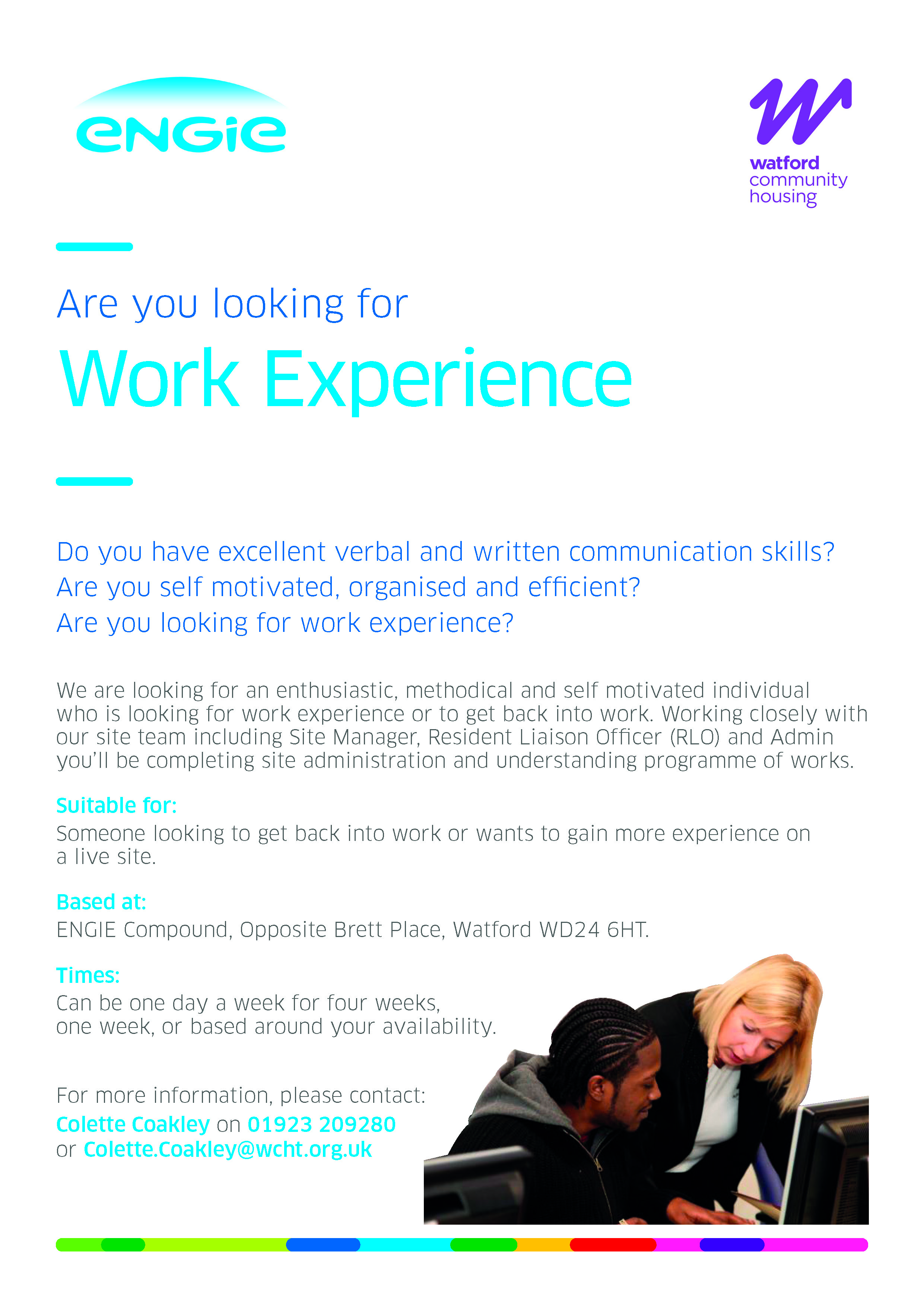 Watford work experience jun18