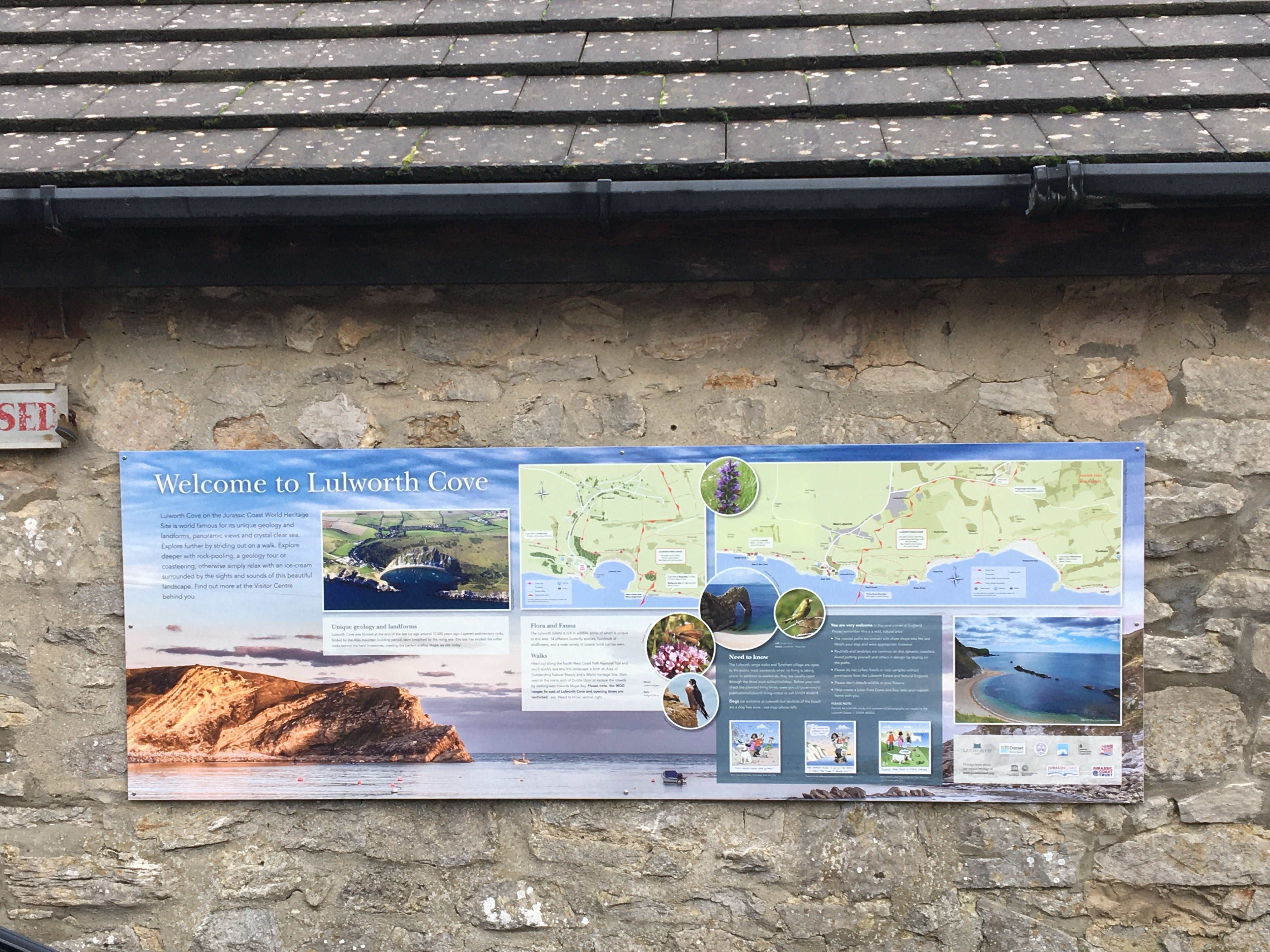 Interpretation panel, Lulworth Cove Visitor Centre