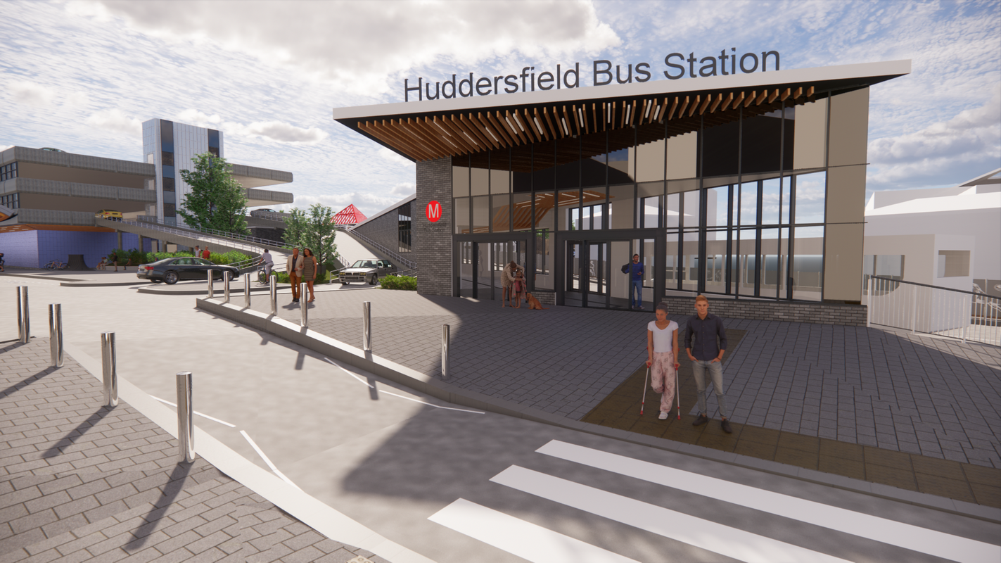 Artist impression of proposed Henry Street access to Huddersfield Bus Station