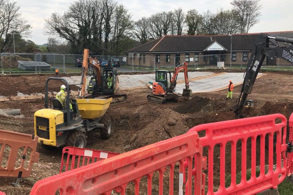 StARR - Bull Engine Park flood basin construction