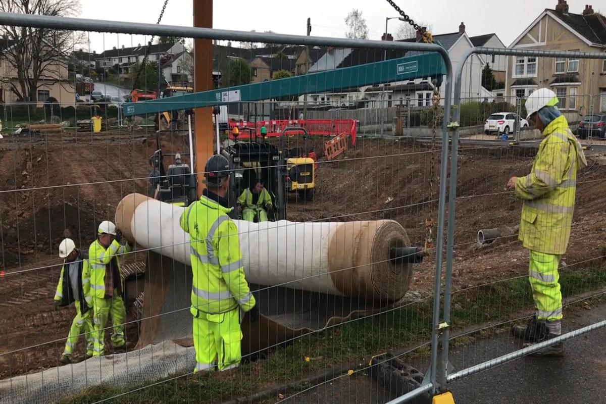 StARR - Bull Engine Park flood basin liner construction