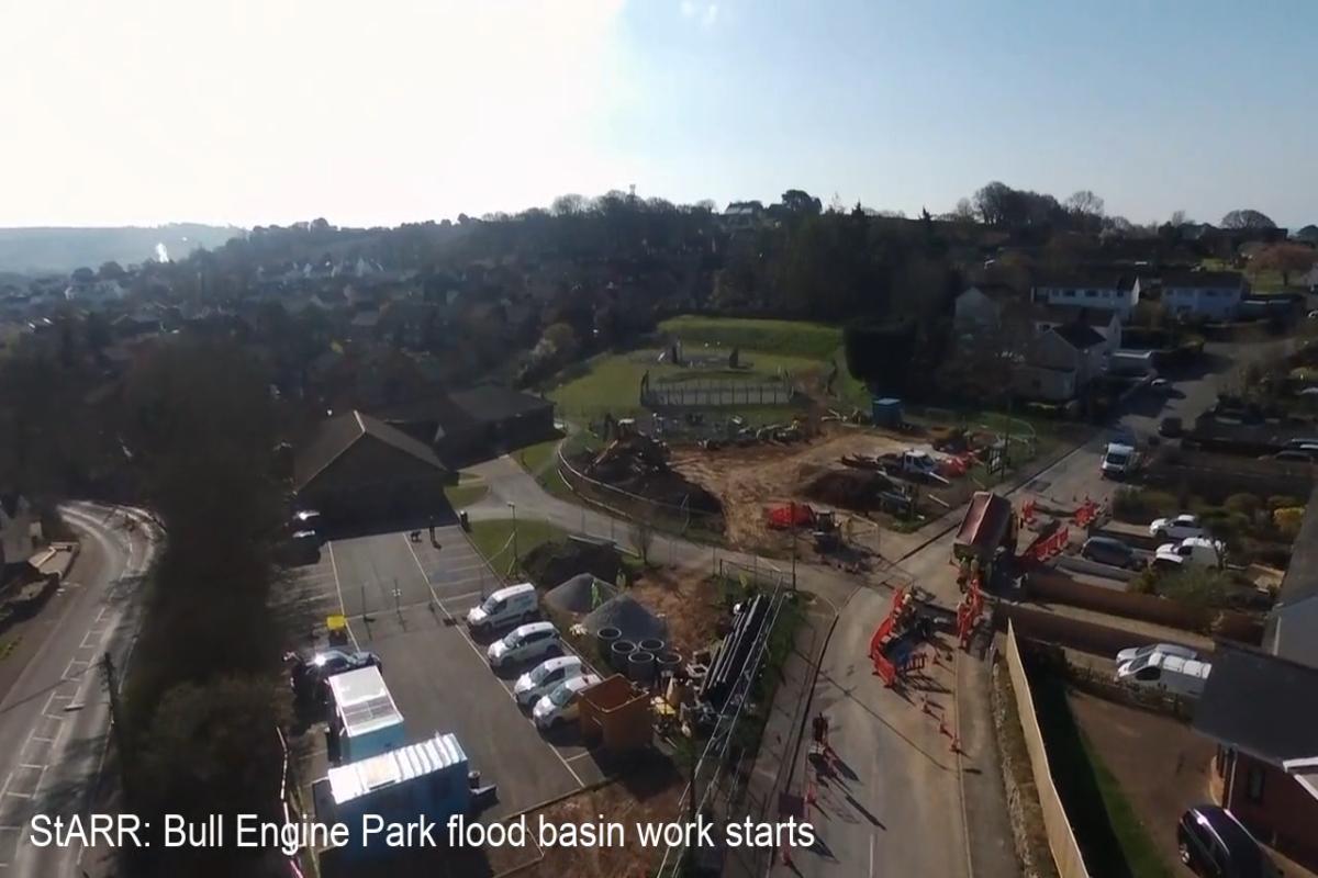 StARR - Bull Engine Park flood basin site aerial video