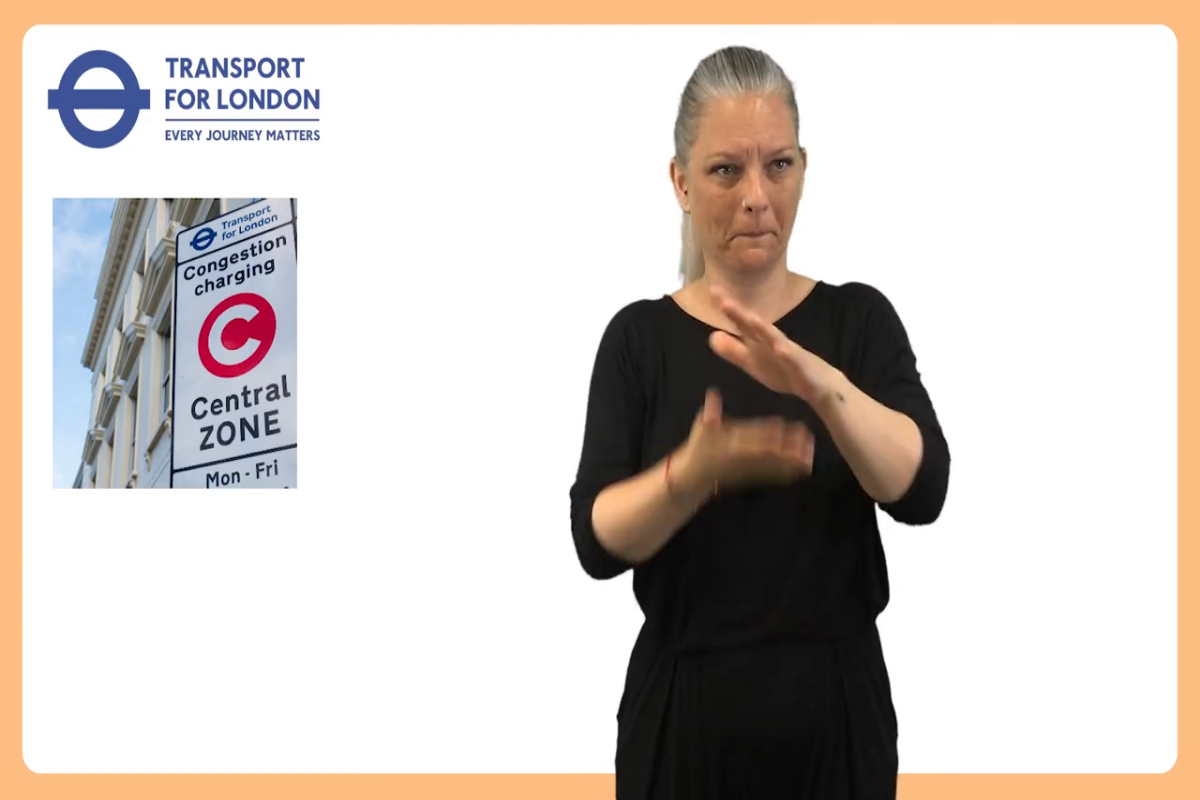 BSL video Congestion Charge consultation proposals