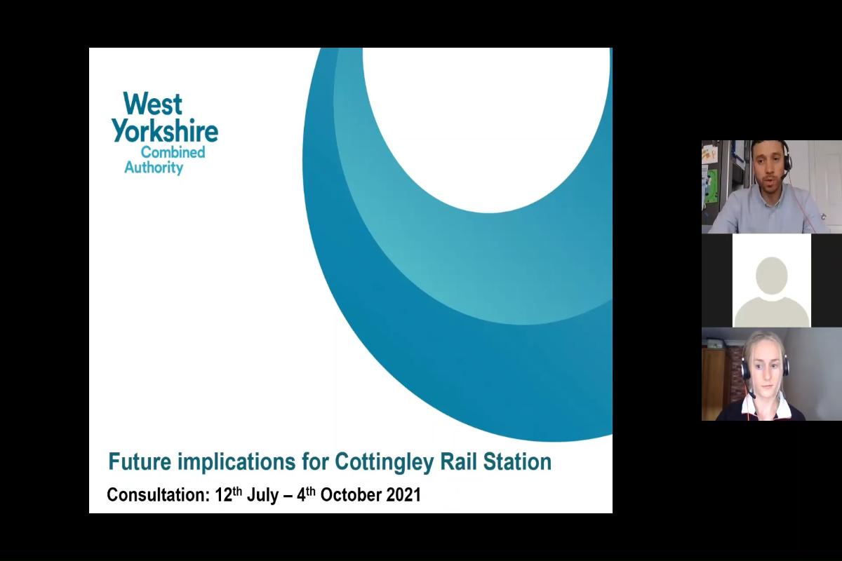 Monday 13 September Public Webinar on Cottingley Rail Station