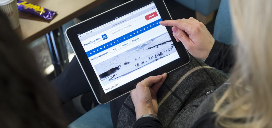 Image of a person using the council website