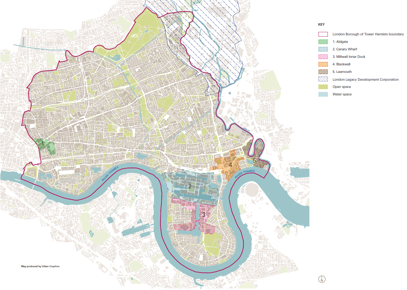 Tower Hamlets Tall Building Zones (Figure 7: Tower Hamlets Local Plan)