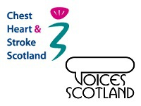 Chest heart stroke scotland and voices logos
