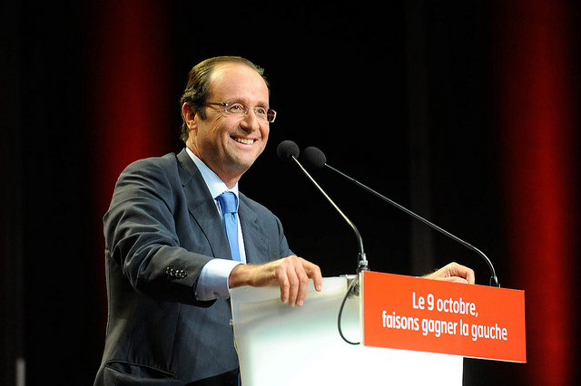 El president francès François Holande, en un mítng electoral de la tardor passada / Foto: PSF