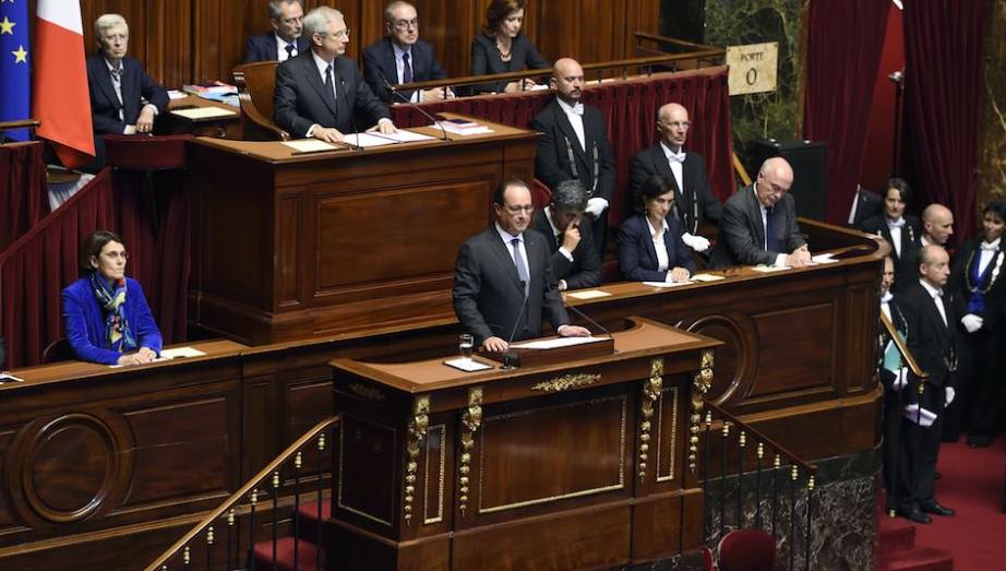 El president Hollande s'adreça a l'Assemblea Nacional francesa