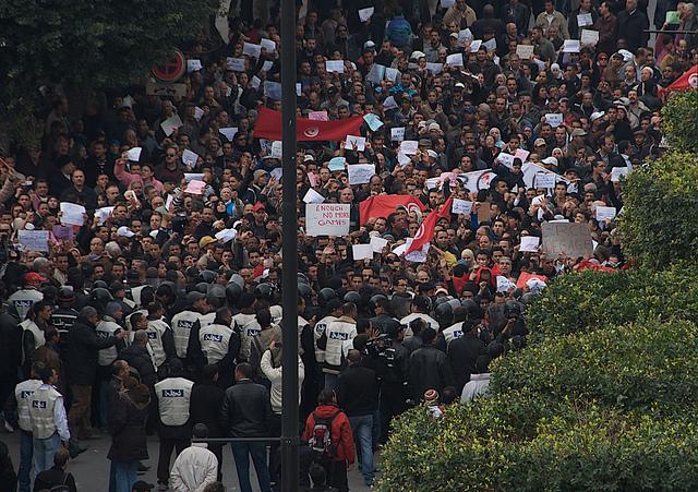 La revolució tunisiana de 2011, que va encetar l'anomenada Primavera Àrab / Foto: Chrls Belsten