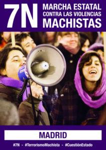 Cartell de la manifestació del 7-N contra la violència masclista / ARXIU