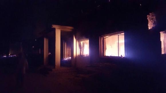 L'hospital de Kunduz, cremant per dins després del bombardeig / MSF