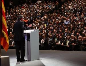 Artur Mas a l'Auditori del Fòrum. Foto: Gencat