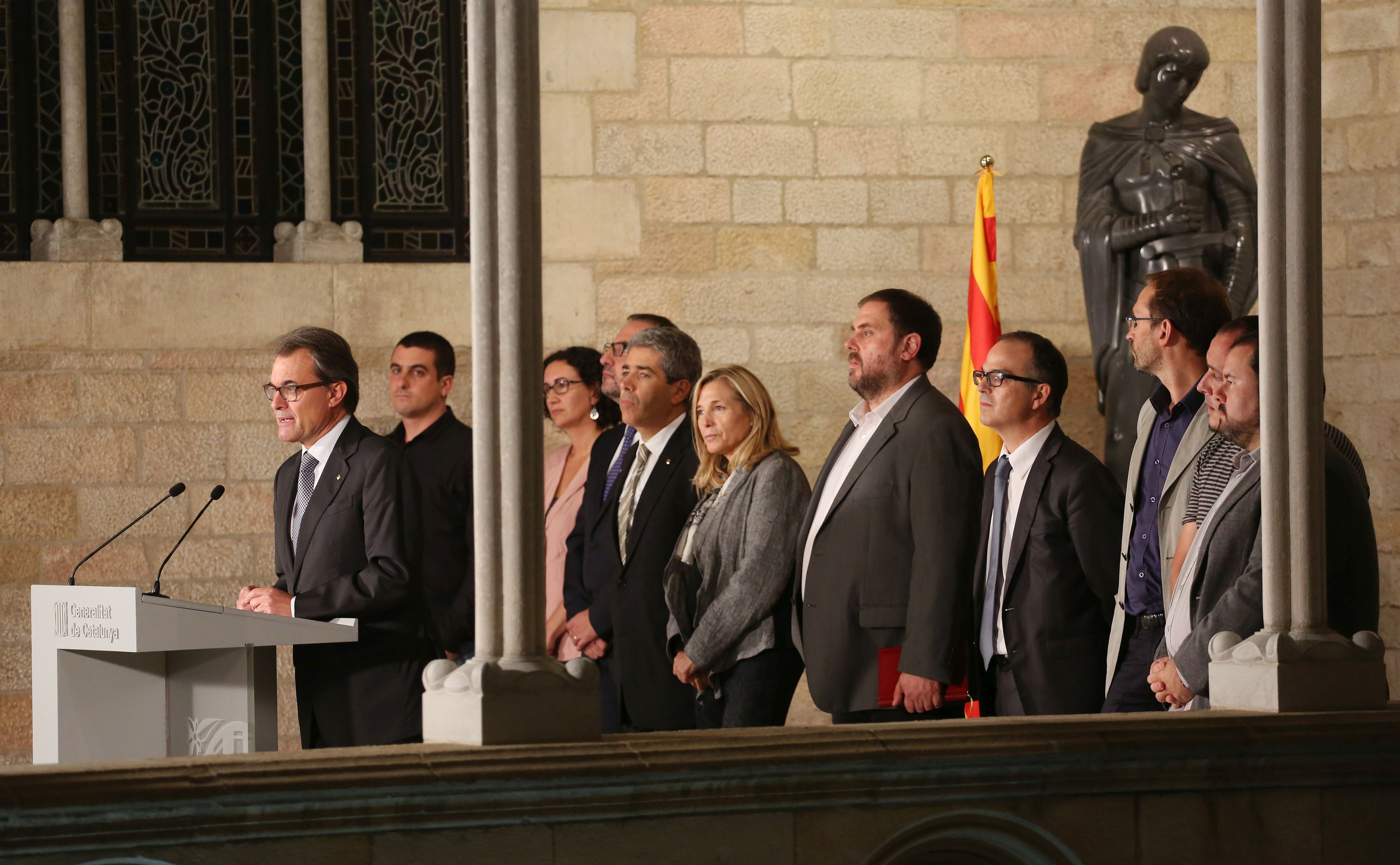 Compareixença conjunta dels partits proconsulta. Foto: Gencat.cat