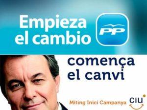 Esglògans de PP i CiU (2011 i 2010)