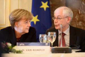 Angela Merkel i el president del Consell Europeu, Herman van Rompuy / EPP