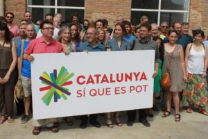 Presentació de la llista de Catalunya Sí Que Es Pot amb Nuet, Camats, El Hachmi, Coscubiela, Ubasart i Albano Dante / MARC FONT