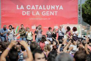 Acte de Catalunya Sí Que Es Pot, al barri del Carmel, amb Pablo Iglesias i Lluís Rabell / GEORGIE URIS