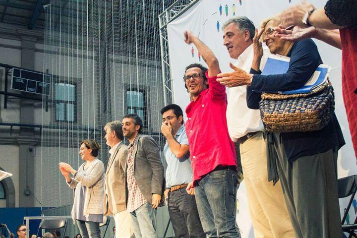 Acte de la xarxa de ciutats pel canvi, amb Ada Colau i Manuela Carmena, al capdavant / ARXIU