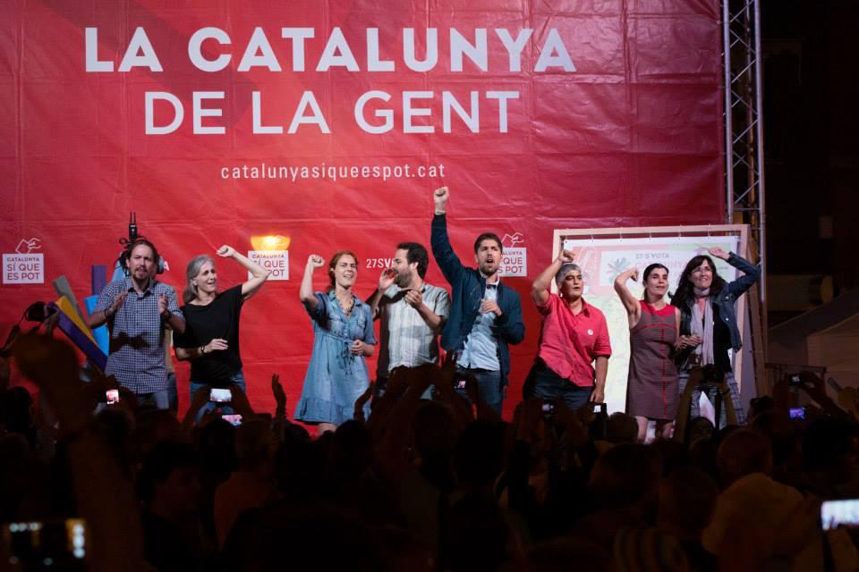 Acte de campanya de Catalunya Sí que es Pot. Foto: CSQP