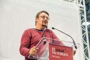 Xavier Domènech, candidat d'En Comú Podem. Foto: Marc Lozano