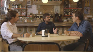 Jordi Évole modera un debat entre Iglesias i Rivera en un bar a Nou Barris / SALVADOS