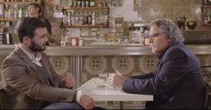 Gabriel Rufián i Joan Tardà, al bar el Tio Cuco de Nou Barris on es va fer el programa Salvados amb Albert Rivera i Pablo Iglesias / CRÍTIC