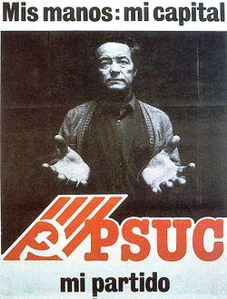 Cartell polític de propaganda del PSUC