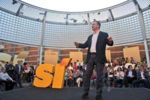 Alfred Bosch, d'ERC, durant la campanya de les eleccions municipals / ERC BCN