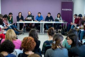 Una imatge del darrer consell ciutadà de Podem