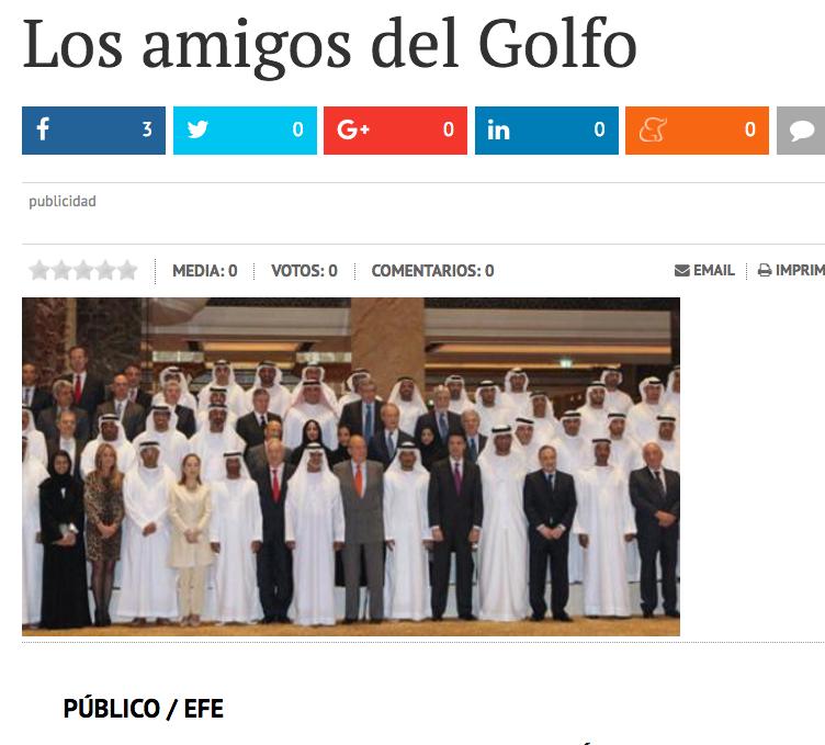 Article del diari Publico.es sobre les amistats del rei Joan Carles / ARXIU