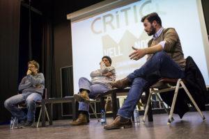 Xavier Domènech, Gabriela Serra i Gabriel Rufian, en un acte organitzat per CRÍTIC / JORDI BORRÀS