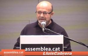 Lluís Cabrera, en un acte de l'Assemblea Nacional Catalana a Santa Coloma de Gramenet / ANC