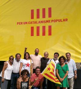 Jaume Moya, Ricard Gomà, Sara Vilà o Jaume Bosch, entre altres membres d'ICV partidaris de la independència / S. V.