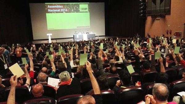 Vots afirmatius a l'assemblea de la CUP celebrada a Esparreguera / CUP